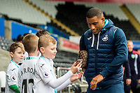 Saturday 04 March 2017<br />Pictured: Luciano Narsingh Swansea City  arrives ahead of the game <br />Re: Swansea City v Burnley, Premier League Match at the Liberty Stadium Swansea, Wales, UK