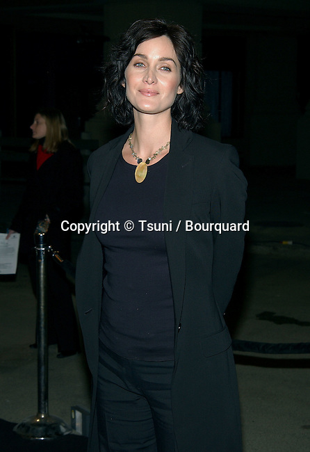 "Carrie-Anne Moss arriving at the premiere of ""Enter The Matrix"" a groundbreaking Animeted Short. February 4, 2003          -            MossCarrie-Anne18.jpg"
