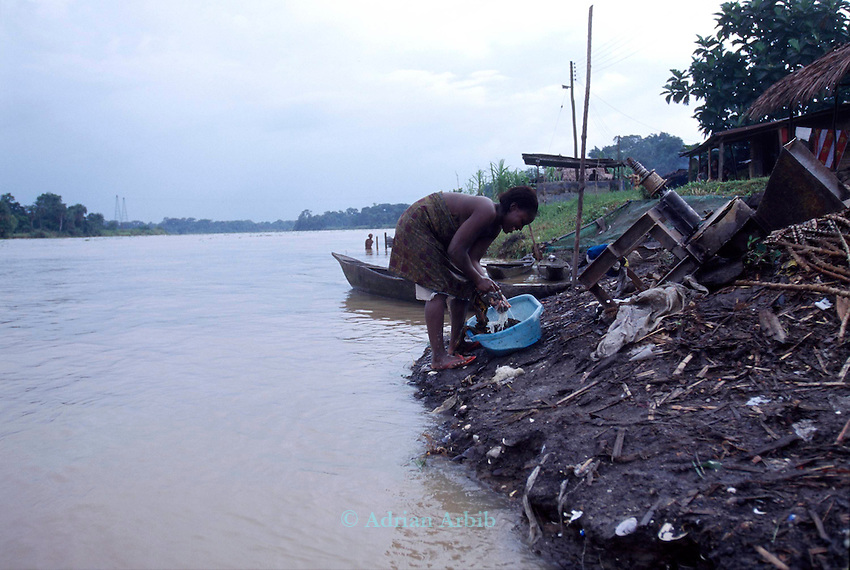 Ijaw village, Delta region of Nigeria.  .The ijaw communities claim Shell Oil has damaged their fishing grounds and  have failed to put any  revenues  from their  huge oil income back into the area where it was extracted..