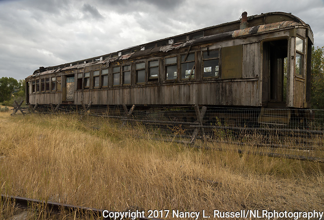 Old railway cars in Nevada City, Montana
