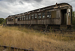 Old railway cars in Nevada City, Montana