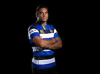 Kahn Fotuali'i poses for a portrait at a Bath Rugby photocall. Bath Rugby Media Day on August 24, 2016 at Farleigh House in Bath, England. Photo by: Rogan Thomson / JMP / Onside Images