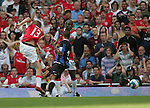 Arsenal's Alexander Hleb scoring his sides equaliser. .Pic SPORTIMAGE/David Klein