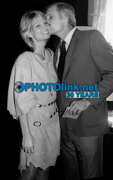 Cathy Lee Crosby and Ted Turner 1983<br /> 20th NATPE Convention<br /> Photo By John Barrett/PHOTOlink