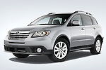 Low aggressive front three quarter view of a 2008 Subaru Tribeca SUV