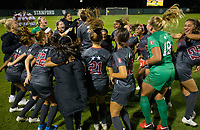 Stanford, CA - October 3, 2019: Team at Laird Q Cagan Stadium. The Stanford Cardinal beat the Washington State Cougars 5-0.