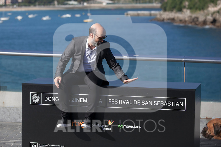 Spanish actor Javier Camara poses during the `Truman´ film presentation a 63rd Donostia Zinemaldia (San Sebastian International Film Festival) in San Sebastian, Spain. September 19, 2015. (ALTERPHOTOS/Victor Blanco)