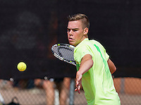 Netherlands, Rotterdam August 05, 2015, Tennis,  National Junior Championships, NJK, TV Victoria, Patrick Speelman<br /> Photo: Tennisimages/Henk Koster