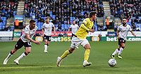 Blackburn Rovers' Joe Rothwell breaks away from Bolton Wanderers' Craig Noone and Erhun Oztumer <br /> <br /> Photographer Andrew Kearns/CameraSport<br /> <br /> The EFL Sky Bet Championship - Bolton Wanderers v Blackburn Rovers - Saturday 6th October 2018 - University of Bolton Stadium - Bolton<br /> <br /> World Copyright © 2018 CameraSport. All rights reserved. 43 Linden Ave. Countesthorpe. Leicester. England. LE8 5PG - Tel: +44 (0) 116 277 4147 - admin@camerasport.com - www.camerasport.com