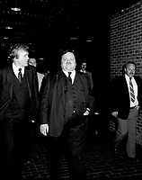 Jean Garon attend a conference at UQAM, May 31, 1984.<br /> He just died in July 2014.<br /> <br /> File Photo : Agence Quebec Presse - Pierre Roussel