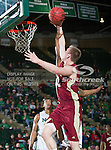 Denver Pioneers forward Chase Hallam (32) in action during the game between the Denver Pioneers and the University of North Texas Mean Green at the North Texas Coliseum,the Super Pit, in Denton, Texas. UNT defeated Denver 75 to 74 in overtime.