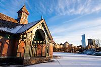 US, New York City, Central Park. Harlem Meer, Charles A. Dana Discovery Center.
