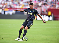 Landover, MD - August 4, 2018: Juventus forward  Pereira Da Silva Matheus (40) with the ball during the match between Juventus and Real Madrid at FedEx Field in Landover, MD.   (Photo by Phillip Peters/Media Images International)