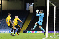 Joe Day of Newport County takes the aerial ball during Southend United vs Newport County, Caraboa Cup Football at Roots Hall on 8th August 2017