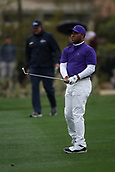 February 3rd 2019, Scottsdale, Arizona, USA;  Harold Varner III watches his second shot  on the second hole during the final round of the Waste Management Phoenix Open on February 3, 2019, at TPC Scottsdale in Scottsdale, Arizona.