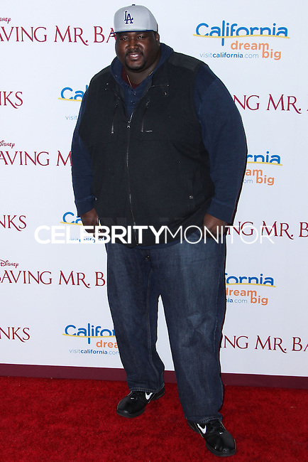 "BURBANK, CA - DECEMBER 09: Quinton Aaron arriving at the U.S. Premiere Of Disney's ""Saving Mr. Banks"" held at Walt Disney Studios on December 9, 2013 in Burbank, California. (Photo by Xavier Collin/Celebrity Monitor)"
