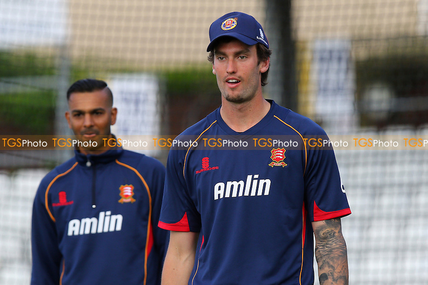 Reece Topley of Essex looks on ahead of the start - Essex Eagles vs Essex Premier Leagues XI - T20 Cricket Friendly Match at the Essex County Ground, Chelmsford, Essex - 13/05/15 - MANDATORY CREDIT: Gavin Ellis/TGSPHOTO - Self billing applies where appropriate - contact@tgsphoto.co.uk - NO UNPAID USE