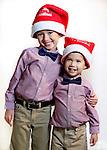 WATERBURY CT. 22 November 2016-112316SV03-Christmas Kid. <br /> Oliver Ondevilla, 5, and his brother Victor Ondevilla, 2, of Oakville.<br /> Steven Valenti Republican-American