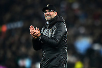 Liverpool manager Jürgen Klopp celebrates at the end of the match<br /> <br /> Photographer Richard Martin-Roberts/CameraSport<br /> <br /> UEFA Champions League Group C - Liverpool v Napoli - Tuesday 11th December 2018 - Anfield - Liverpool<br />  <br /> World Copyright ¬© 2018 CameraSport. All rights reserved. 43 Linden Ave. Countesthorpe. Leicester. England. LE8 5PG - Tel: +44 (0) 116 277 4147 - admin@camerasport.com - www.camerasport.com