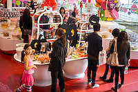 Halloween candies are displayed in a FAO Schwarz in New York on Thursday, October 16, 2014. According to the National Confectioners Association sales of Halloween candy is expected to reach $2.5 billion in the U.S. Chocolate is the number one seller followed closely by candy corn. (© Richard B. Levine)