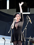 Niamh Farrell of Ham Sandwich performing before Bon Jovi at Slane Castle. Photo:Colin Bell/pressphotos.ie