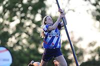 FIERLJEPPEN: IT HEIDENSKIP: 30-05-2015, Marrit van der Wal wint met 16.55m (pr), ©foto Martin de Jong