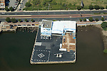 Aerial view of  Philadelphia heliport at Penns Landing, Pennsylvania
