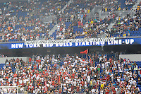 Fans hang a sign welcoming new players Thierry Henry and Rafael Marquez (not pictured). The Los Angeles Galaxy defeated the New York Red Bulls 1-0 during a Major League Soccer (MLS) match at Red Bull Arena in Harrison, NJ, on August 14, 2010.