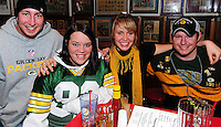 Packers and Bears fans watch the NFC championship game on 1/23/11 at sports bars throughout Madison, Wisconsin, including Babes, Big 10 Pub, Buffalo Wild Wings, Pooley's, and Wilson Bar and Grill