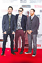June 23, 2012, Chiba, Japan - Linkin Park members (L-R) Mike Shinoda, Chester Bennington and Dave Farrell pose on the red carpet during the MTV Video Music Awards Japan event. (Photo by Christopher Jue/AFLO)