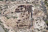 Chaco Canyon ruins aerial