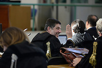 Roma, 24 Novembre 2015<br /> Giosuè Bruno Naso, avvocato difensore di Massimo Carminati.<br /> Aula bunker di Rebibbia<br /> Quarta udienza del processo Mafia Capitale,