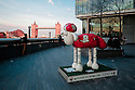 London, UK. 07.04.2015. Shaun the Sheep, charity sculptures, London, UK. Mittens, at More London. Photograph © Jane Hobson.