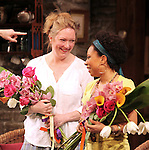 Kristine Nielsen & Shalita Grant during the Broadway Opening Night Performance of 'Vanya and Sonia and Masha and Spike' at the Golden Theatre in New York City on 3/14/2013.