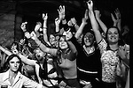 "Paul and Linda McCartney Wings Tour 1975.  Ecstatic female fans scream and wave their arms, an impassive bouncer stands at their side. Bristol, England. The photographs from this set were taken in 1975. I was on tour with them for a children's ""Fact Book"". This book was called, The Facts about a Pop Group Featuring Wings. Introduced by Paul McCartney, published by G.Whizzard. They had recently recorded albums, Wildlife, Red Rose Speedway, Band on the Run and Venus and Mars. I believe it was the English leg of Wings Over the World tour. But as I recall they were promoting,  Band on the Run and Venus and Mars in particular."