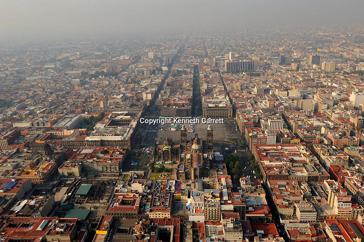 mm7677; Greatest Aztecs; Aerials; Templo Mayor; Mexico City; Centro Historico; Mexico, aerial, Cathedral, Zocalo