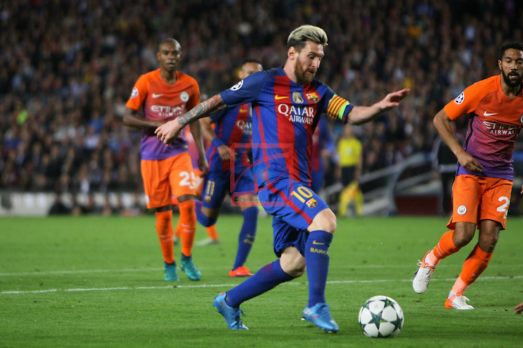 UEFA Champions League 2016/2017 - Matchday 3.<br /> FC Barcelona vs Manchester City FC: 4-0.<br /> Lionel Messi.
