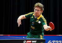 Jackson Meyn (AUS)<br /> 2013 ITTF PTT Oceania Regional<br /> Para Table Tennis Championships<br /> AIS Arena Canberra ACT AUS<br /> Wednesday November 13th 2013<br /> © Sport the library / Jeff Crow