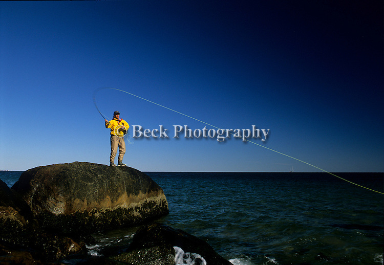 PETER JENKINS FLY FISHING FOR STRIPED BASS IN RHODE ISLAND