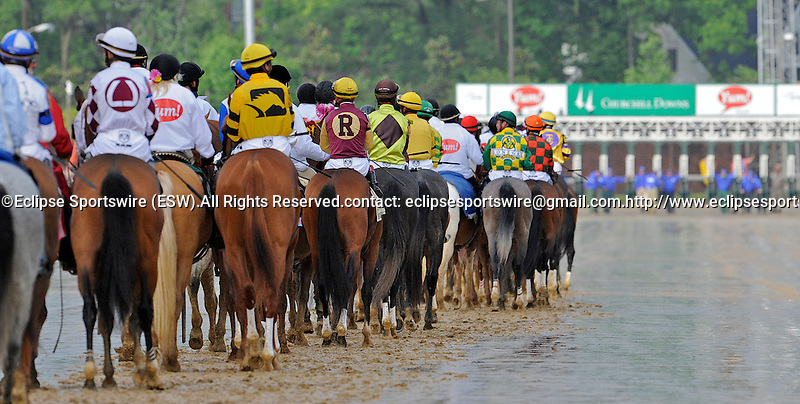 1 May 10: The post parade of the 136th running of the Kentucky Derby at Churchill Downs in Louisville, Kentucky