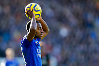 1st February 2020; King Power Stadium, Leicester, Midlands, England; English Premier League Football, Leicester City versus Chelsea; Ricardo Pereira of Leicester City prepares to take a throw