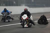 Feb 10, 2017; Pomona, CA, USA; NHRA top fuel nitro Harley rider Kevin Boyer during qualifying for the Winternationals at Auto Club Raceway at Pomona. Mandatory Credit: Mark J. Rebilas-USA TODAY Sports
