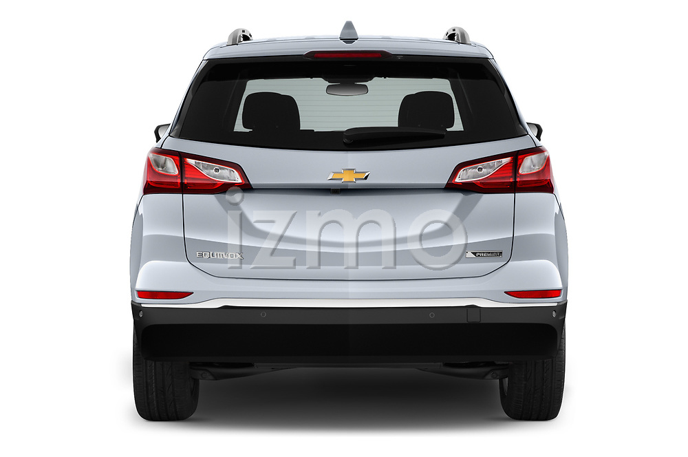 Straight rear view of 2018 Chevrolet Equinox Premier 5 Door SUV Rear View  stock images