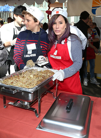 Los Angeles, CA - November 25 Melissa Rivers, Cooper Endicott Attending Los Angeles Mission Thanksgiving For The Homeless At The Los Angeles Mission On November 25, 2015. Photo Credit: Faye Sadou / MediaPunch