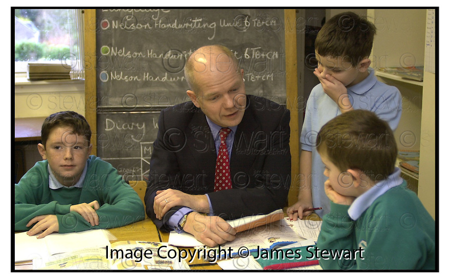 24th November 2000          Copyright Pic : James Stewart .Ref :                           .File Name : stewart05-william hauge.WILLIAM HAUGE VISITS ST MARY'S PRIMARY SCHOOL IN DUNBLANE.....Payments to :-.James Stewart Photo Agency, Stewart House, Stewart Road, Falkirk. FK2 7AS      Vat Reg No. 607 6932 25.Office : 01324 630007        Mobile : 0421 416997.E-mail : jim@jspa.co.uk.           : jim@jamesstewart.co.uk.If you require further information then contact Jim Stewart on any of the numbers above.........