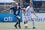 HKFC Masters (in blue) vs Discovery Bay (in white) during their Masters Tournament match, part of the HKFC Citi Soccer Sevens 2017 on 27 May 2017 at the Hong Kong Football Club, Hong Kong, China. Photo by Marcio Rodrigo Machado / Power Sport Images