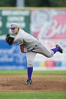 Winston-Salem Dash starting pitcher Jace Fry (11) in action against the Salem Red Sox at LewisGale Field at Salem Memorial Ballpark on May 14, 2015 in Salem, Virginia.  The Red Sox defeated the Dash 1-0.  (Brian Westerholt/Four Seam Images)