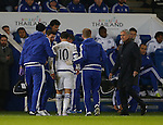 Eden Hazard of Chelsea leaves injured as Jose Mourinho manager of Chelsea checks on him  - English Premier League - Leicester City vs Chelsea - King Power Stadium - Leicester - England - 14th December 2015 - Picture Simon Bellis/Sportimage