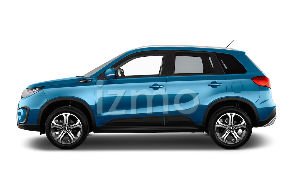 Car driver side profile view of a 2015 Suzuki Vitara Lux Extra 5 Door SUV