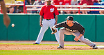 9 March 2013: Miami Marlins first baseman Joe Mahoney in action during a Spring Training game against the Washington Nationals at Space Coast Stadium in Viera, Florida. The Nationals edged out the Marlins 8-7 in Grapefruit League play. Mandatory Credit: Ed Wolfstein Photo *** RAW (NEF) Image File Available ***